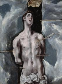 St. Sebastian, El Greco, c. 1610-1614, oil on canvas, Museo del Prado, Madrid.
